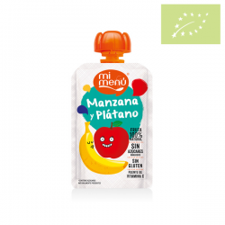 Pure bebible de manzana y plátano 100 gr. Ecológico