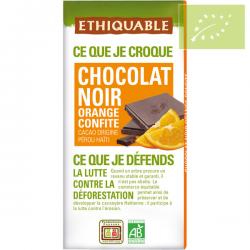 Chocolate negro con naranja confitada Ecológico