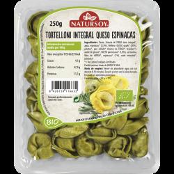 Tortelloni integrales con queso y espinacas ecológicos