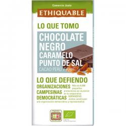 Chocolate negro caramelo, punto de sal Ecológico