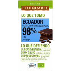 Chocolate negro 98 % de cacao eco