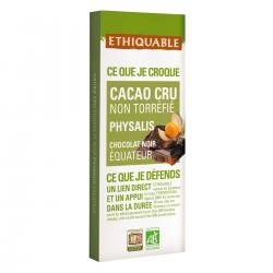 Chocolate 70% cacao crudo y Physalis Ecológico