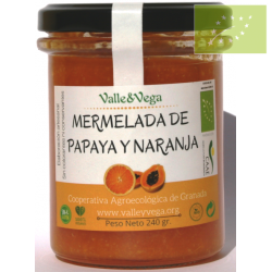 Mermelada de Papaya y Naranja Valle y Vega