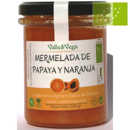 Mermelada de Papaya y Naranja Eco Valle y Vega