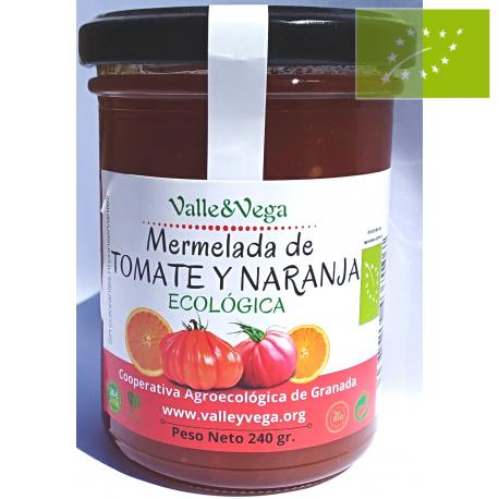 Mermelada de tomate y naranja Ecológica Valle y Vega