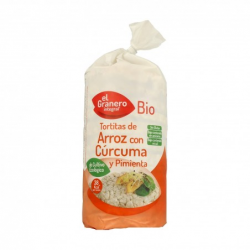 Tortitas de arroz con cúrcuma y pimienta ecológicas