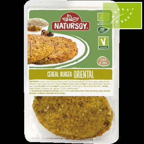 Vegano-Hamburguesa vegetal de cereales oriental 160g ecológica