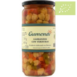 Garbanzos cocidos con verduras 720ml