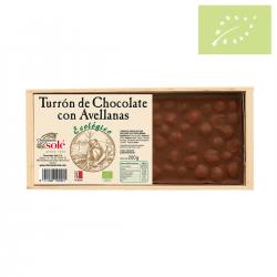Turrón chocolate con avellanas ecológico