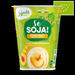 Yogur de soja con mango y melocotón 400 gr Ecológico