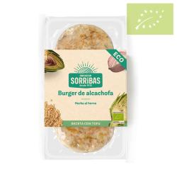 Vegano-Hamburguesa vegetal de alcachofa 160g ecológica